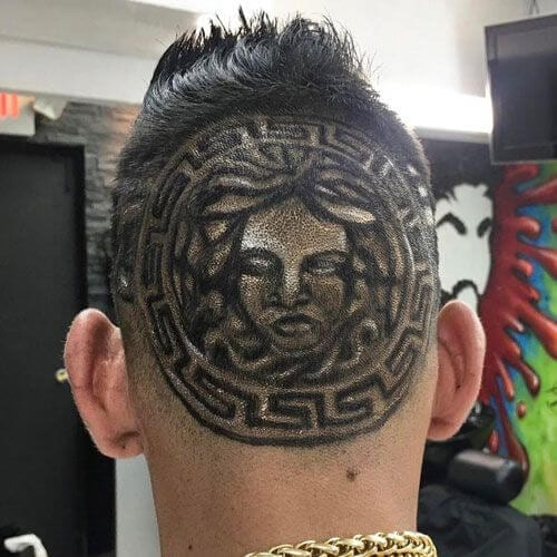 versace hair designs for men