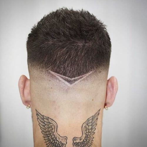 vshaped hair designs for men