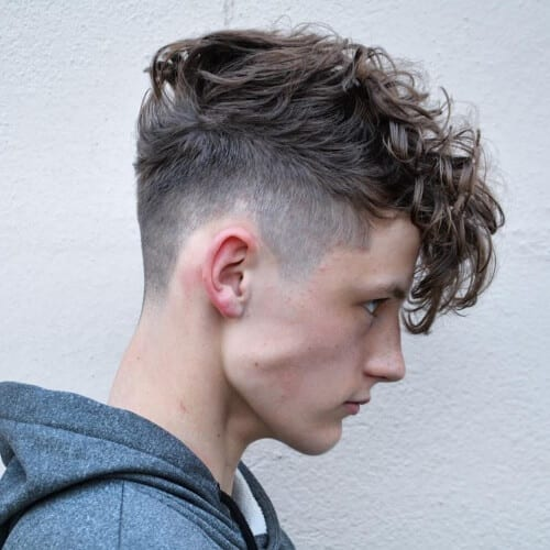 angular fringe high fade haircut
