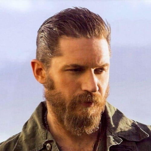 asymmetrical tom hardy beard