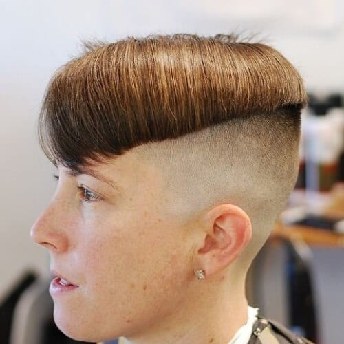 asymmetrical bowl cut high fade