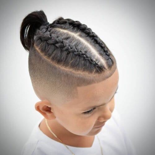 braided top high fade haircut
