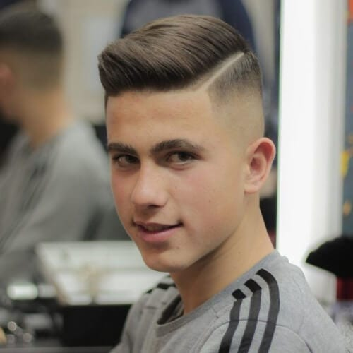 combover high fade haircut