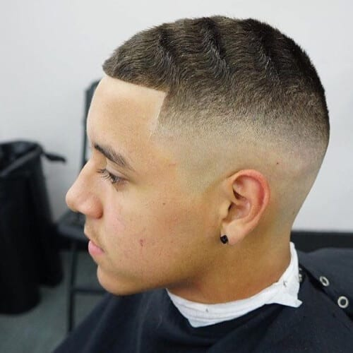 deep waves high fade haircut