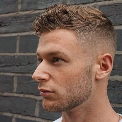 gelled top high fade haircut