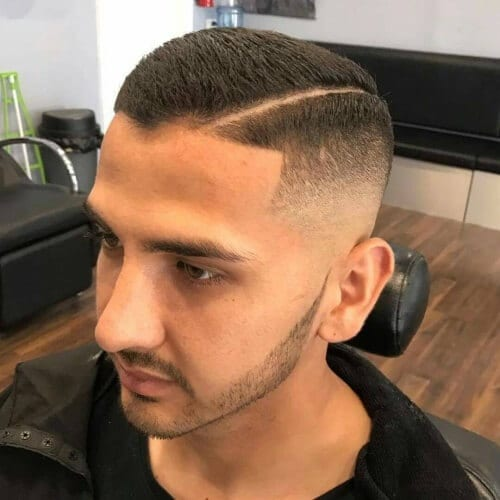 hard part high fade haircut