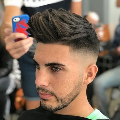 long textured top high fade haircut