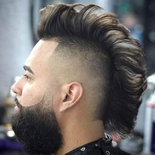 mohawk high fade haircut