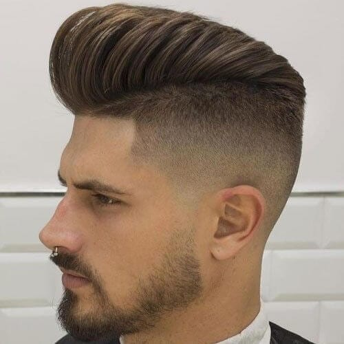 high fade pompadour