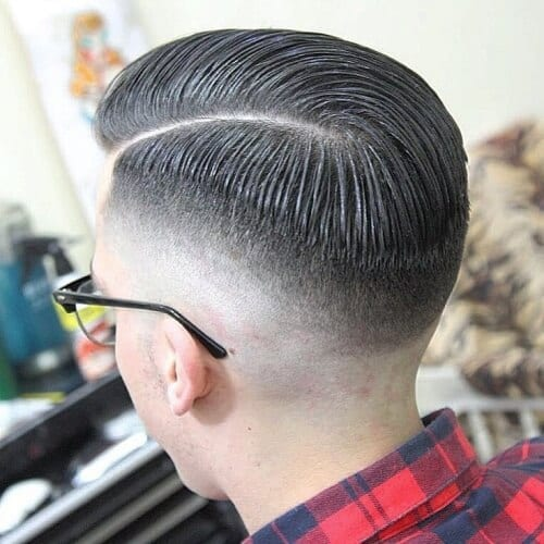 rounded high fade haircut