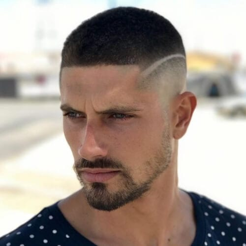 surgical line high fade haircut