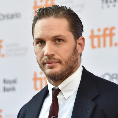 well-groomed tom hardy beard