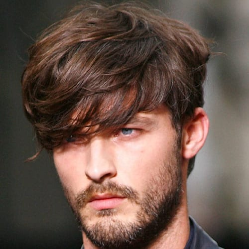 guy with long hair and short beard - beard styles