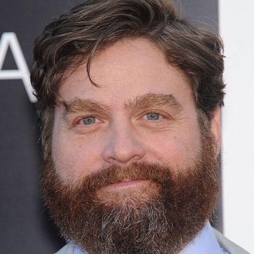 zach galifianakis beard and round face