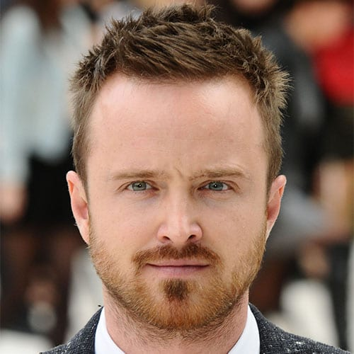 aaron paul with short beard
