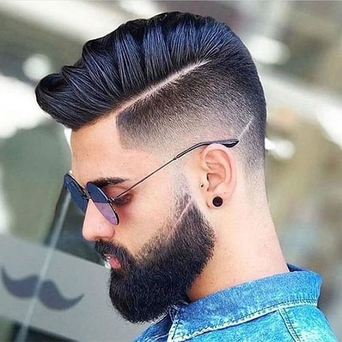 man with sleek haircut and beard