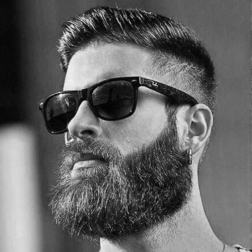 long beard sunglasses man