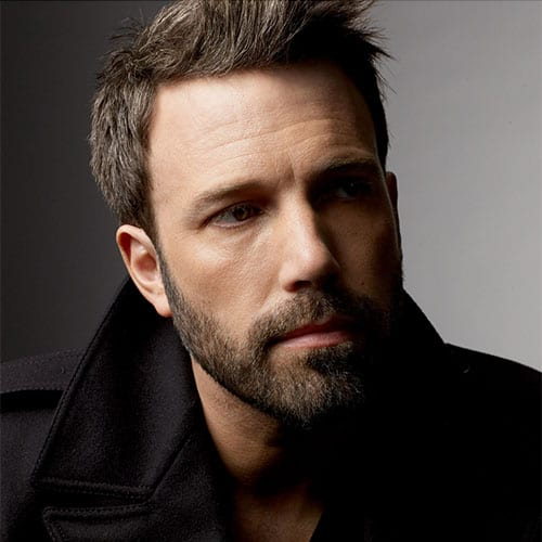 ben affleck with short beard styles