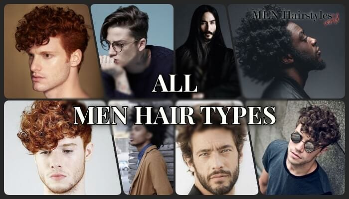 collage of all men hair styles with caption