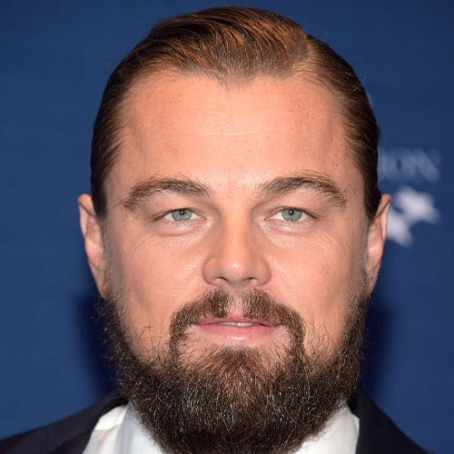 leonadro dicaprio with beard