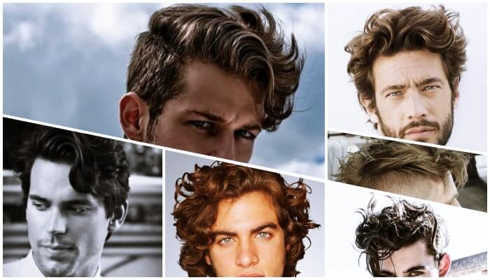 wavy hair collage
