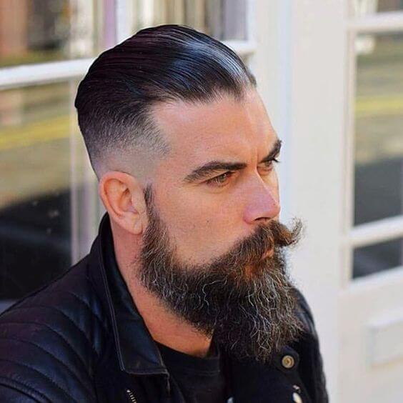 man with wet look hairstyle