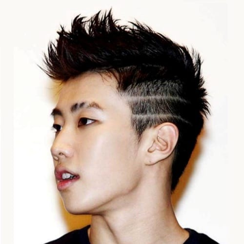 Double Line Fade Cuts Hairstyle