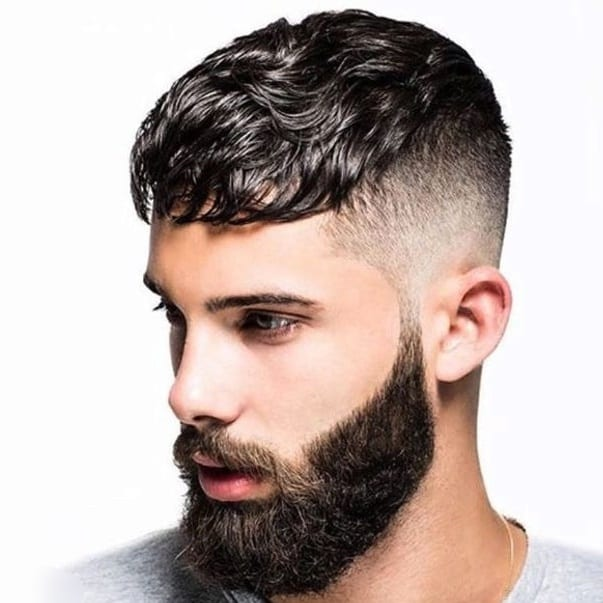 High Fade Piecey Top with Full Beard