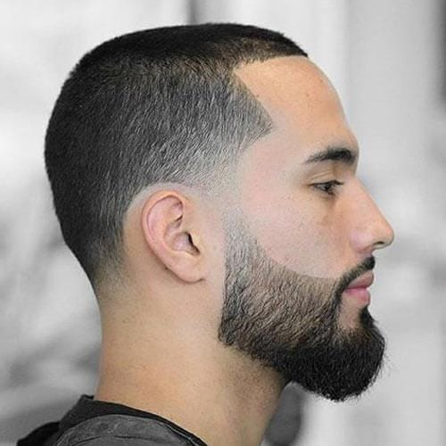 temple fade buzz cut