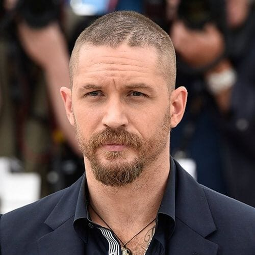 tom hardy shorth high and tight buzz cut