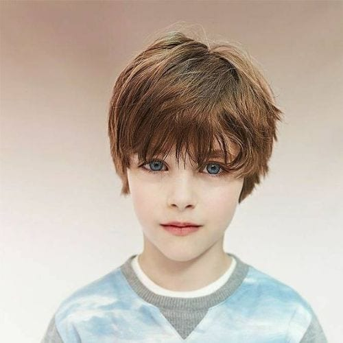 boy with long bangs