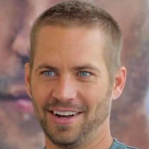 paul walker longer butch cut with short beard