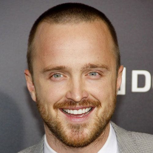 aaron paul buzz cut