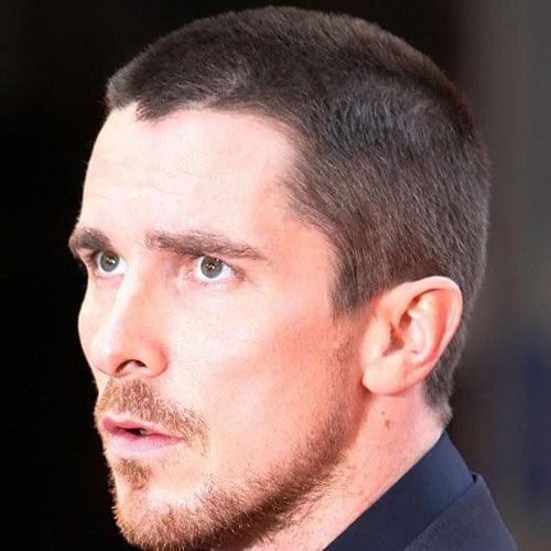 christian bale with short buzz cut