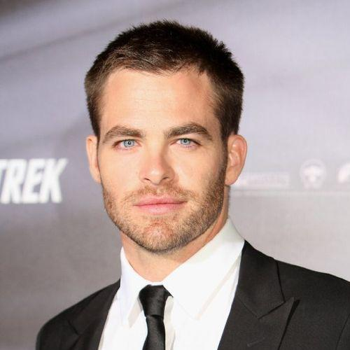 Chris Pine Crew Cut with Full Beard