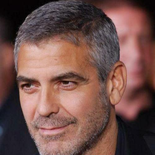george clooney short hairstyle