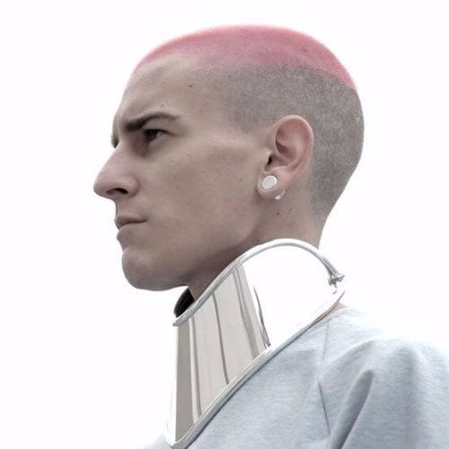 dyed buzz cut