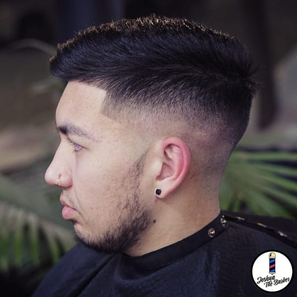 Joshua Haircut Short Pomp Tapered Fade
