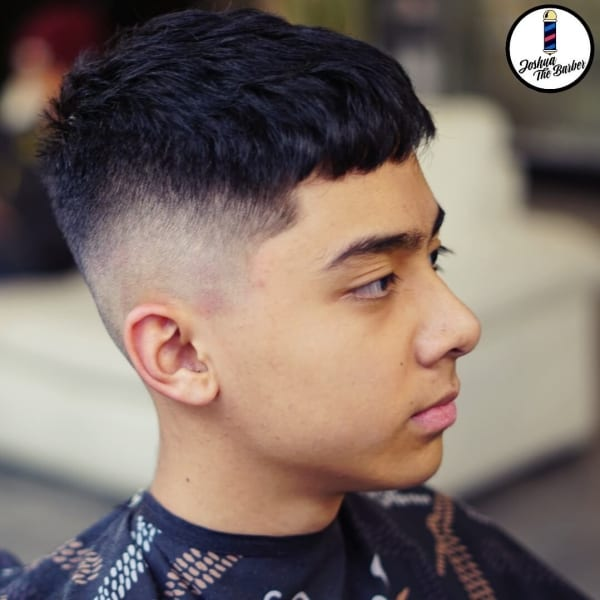 Joshua Hairstyle Forward Swept Tapered Fade