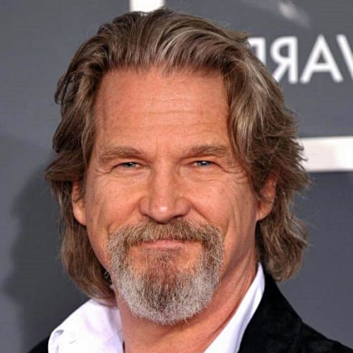 jeff bridges long and wavy hairstyle