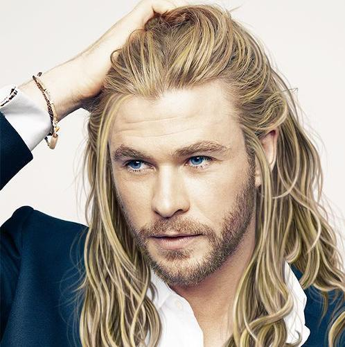 Chris Hemsworth Thor Godly Long Blonde Hair