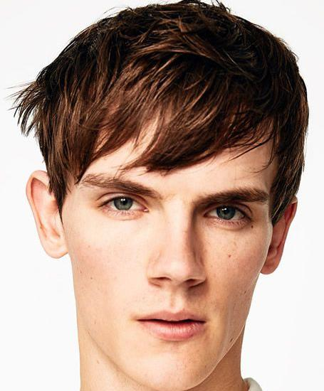 downplayed fringe haircut for men