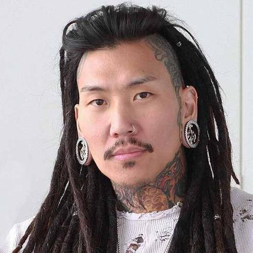 Asian Long Dreads + Undercut + Facial Hair
