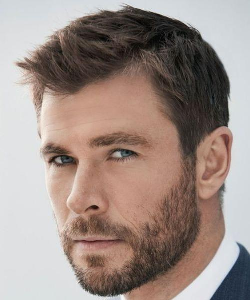 chris hemsworth thor business casual hairstyle