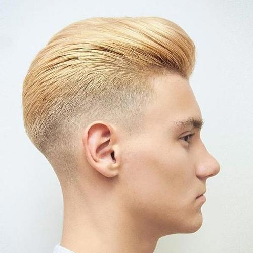 Bleached Blonde Haircut