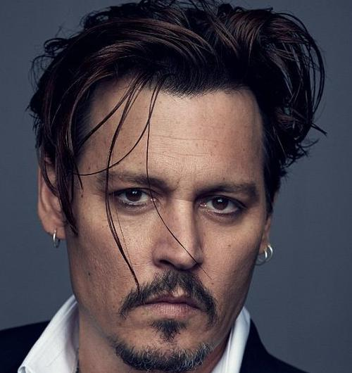 Johnny Depp Messy Bangs Hairstyle
