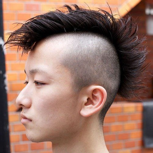 Spiky Mohawk Hairstyles For Asian Men
