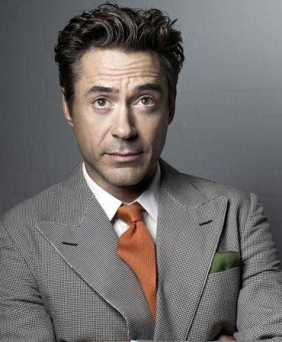Robert Downey Jr. Stylish Wavy Hairstyle