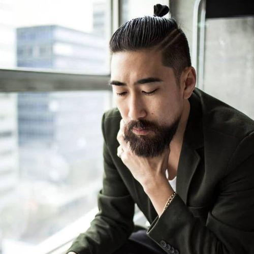 Samurai Bun Asian Man