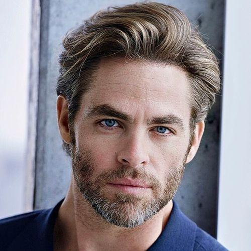 Chris Pine Swept Around Hairstyle